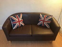 2 seater faux leather sofa in preston