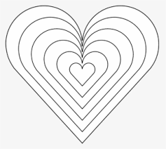 color heart black white line art 999px