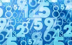 تحميل خلفيات الأزرق الأرقام الخلفية الرياضيات مفهوم أرقام أرقام