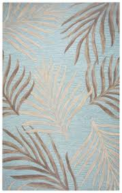 cabot bay coastal fern wool area rug in