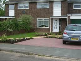 front garden design with parking design