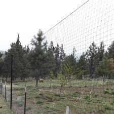 Steel Pole Deer Netting Install Using T Posts