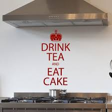 Drink Tea And Eat Cake Quote Wall Sticker Decal World Of Wall Stickers