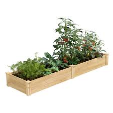 Cedar Raised Garden Bed 2 Ft X 8 Ft X 10 5 In Rc24966t Greenes Fence Greenes Fence Company