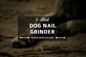 5 best dog nail grinder for