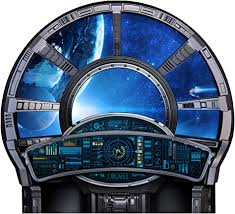 Amazon Com Spaceship Control Large Window Wall Decal Arts Crafts Sewing