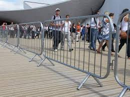 Crowd Control Barriers With Fixed Feet Are Formed The Tourist Path Crowd Control Barriers Crowd Control Buckinghamshire