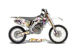 Honda Crf250 X Dirt Bike Graphics Ed Hardy Love Kills Red Mx Graphic Decal Wrap Kit Dirt Bike Graphics Graphic Kits