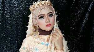 44 tutorial make up pengantin hijab