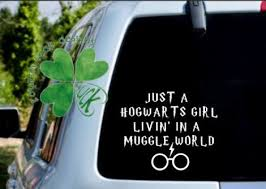 Excited To Share The Latest Addition To My Etsy Shop Hogwarts Girl In A Muggle World Vinyl Decal Harry In 2020 Funny Car Decals Cute Car Decals Car Decals Vinyl
