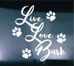 Live Love Bark Painting Plastic Large Decal Peeling Paint