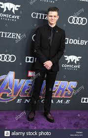 Los Angeles, California, USA. 22nd Apr, 2019. Actor Ty Simpkins attends the  World Premiere of Marvel Studios' 'Avengers: Endgame' on April 22, 2019 at  Los Angeles Convention Center in Los Angeles, California,
