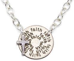 mariamor faith quarter pendant necklace