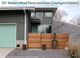 diy modern wood fence and gate