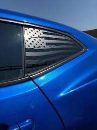 Chevrolet Camaro Distressed American Flag Window Decal 2016 2018 Ebay