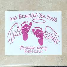 Angel Baby Memorial Decal Mommy Or Daddy To An Angel Angel Etsy Angel Baby Memorial Memorial Decals Vinyl Decals