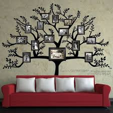 Tree Wall Decal Free Shipping Large Family Tree Branch Leaves Pictures Frames Phot Family Tree Wall Decor Family Tree Wall Decal Family Tree With Pictures