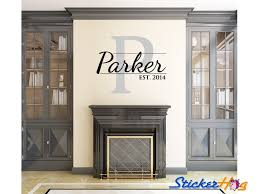 Personalized Family Name Wall Decal Monogram 23 Wall Decals
