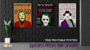 these quotes are no joke printable posters feature joker quotes