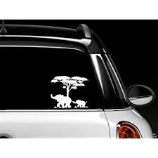 Amazon Com Elephant Mother And Baby Car Window Skin Decal Everything Else