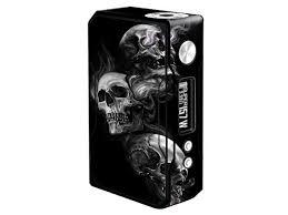 Skin Decal Vinyl Wrap For Voopoo Drag 157w Tc Resin Reg Vape Mod Stickers Skins Cover Glowing Skulls In Smoke Newegg Com