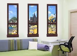 Minions And Gru Window Wall Decal Set