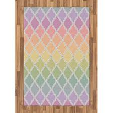 Amazon Com Andecor Soft Girls Room Rugs 5 X 8 Feet Fluffy Rainbow Area Rug For Kids Baby Room Bedroom Nursery Home Decor Large Floor Carpet Rainbow Home Kitchen