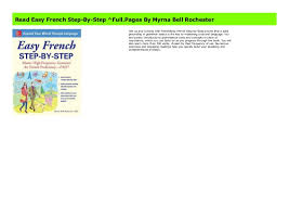 Read Easy French Step-By-Step ^Full.Pages By Myrna Bell Rochester