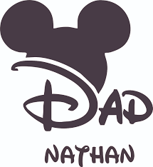 The Mickey Mouse Daddy Design Customized Wall Art Vinyl Decal Custom Vinyl Wall Art Personalized Name Baby Girls Boys Kids Bedroom Decal Room Wall Art Stickers Decoration Size 30x27
