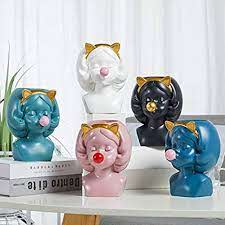 Blowing Bubbles Girl Creative Vase Decoration Ornaments Water Cultivation  Flowers Bottle Dry Vase Home Living Room Table Art Statue: Amazon.in:  Electronics