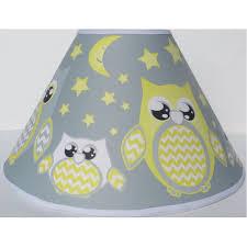 Grey And Yellow Owl Lamp Shade Children S Gray Yellow Owl Nursery Room Decor Walmart Com Walmart Com