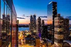 city town night light window look