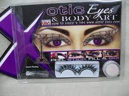 black widow eye art lashes kit costume