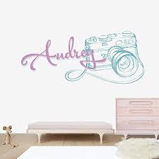 Amazon Com Photography Camera Custom Name Nursery Baby Boy Wall Decal Vinyl Sticker For Kids Home Decor Kitchen Dining