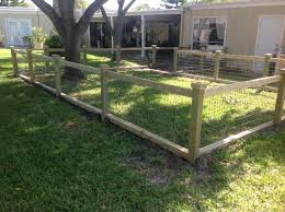 Dress Up Farm Fencing With Top Boards And Post Tops Backyard Fences Farm Fence Diy Dog Fence
