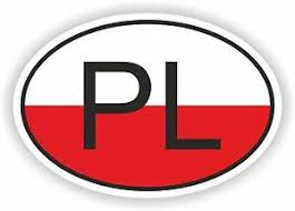 Pl Poland Country Code Oval With Flag Sticker Bumper Decal Car Helmet Laptop Ebay