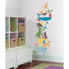 Shop Kids Lab Animal Tower Giant Wall Decal Overstock 9528271