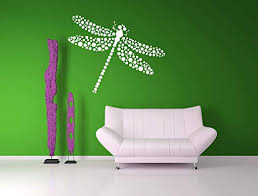 Amazon Com Dragonfly Artwork Dragonflies Polka Dot Decor Tribal Nursery Designs Tribal Decorations Wall Decal Home Decor Dots Insect Nursery And Stick Made In Usa Kitchen Dining