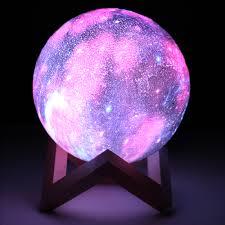 3d Moon Lamp Sky Starry Night Light Usb Touch Sensor Lamp Kids Bedroom W Remoter