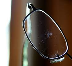 get rid of scratches on eye glasses