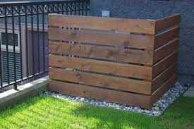 Cover Outside Air Conditioning Unit Pallet Fence To Hide Air Conditioner Unit Backyard Outdoor Air Conditioner Units