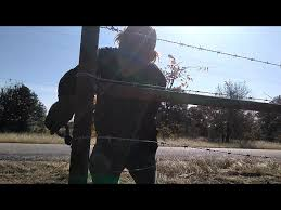 How To Attach Barb Wire To Metal Corner Post