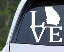 Georgia State Love Ga Usa America Die Cut Vinyl Decal Sticker Decals City