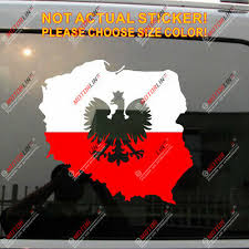 Poland Coat Of Arms Decal Sticker Polish Eagle Herb Polski Vinyl Simple Style
