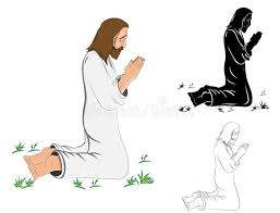 praying jesus christ stock vector illustration of design