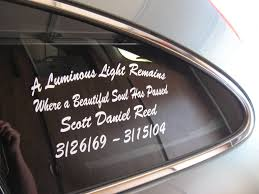 Customized Memorial Decals In Memory Of Your Loved Ones Memorial Decals Custom Vinyl Memories