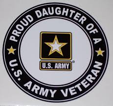 Proud Daughter Us Army Veteran Circle Full Color Graphic Window Decal Stick