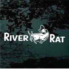 River Rat Catfish Car Decals Window Stickers Decal Junky