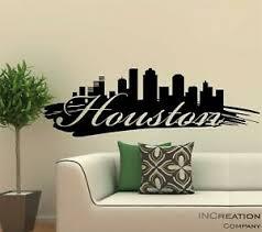 Huge Houston Skyline Vinyl Wall Decal Wall Sticker Man Cave Bedroom Removable Ebay