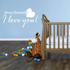 Vinyl Wall Decal Love Quotation Always Remember I Love You Customvinyldecor Com